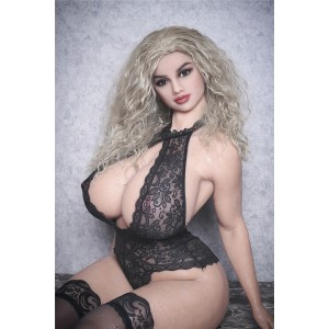 Delia : 165cm 5.41ft  Long Curly Hair H-Cup WM Silicone Sex Dolls