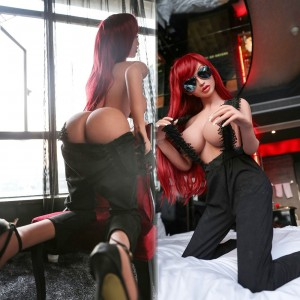 158cm 5.18FT Life Like Silicone Sex Doll with Metal Skeleton 3 Holes Real Adult Love Doll