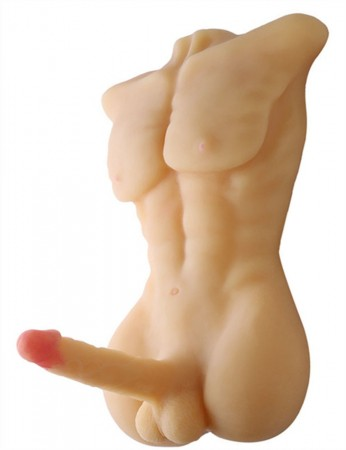 Full Solid Silicone Male Doll with Big Dildo, Sex Doll for Women or Men, Gay Sex Products