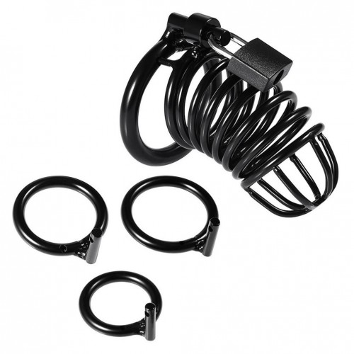 Locked Cock Cage Male Chastity Device Sex Toy for Men