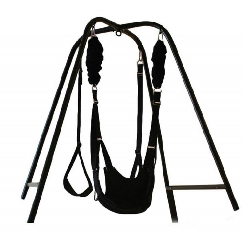 Hot Sex Swing Stand with Wrist Restraints Clamp Belt For Couples Foreplay