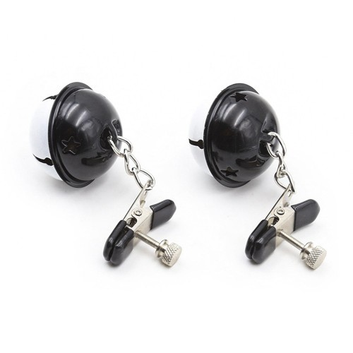 Stainless Steel Clip Breast Nipple Clamps With Bell For Adult