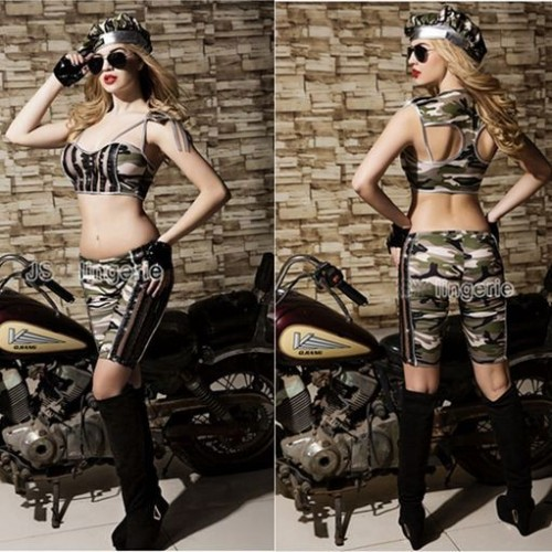 Women Stylish Sexy Lingerie army Costumes foreplay free size female