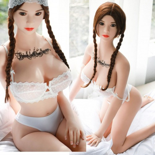 158cm 5.18ft Realistic Silicone Sex Doll Japanese Girl Lifelike Real Solid Love Dolls with 3 Holes