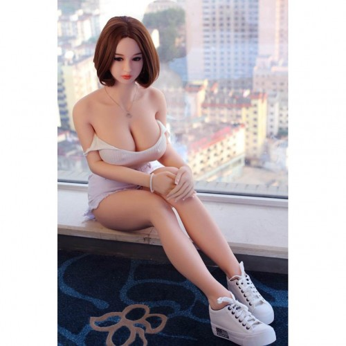 160cm 5.24ft Full Size Realistic Sex Doll Silicone Love Doll with Metal Skeleton 3 Holes Ass Vagina Oral