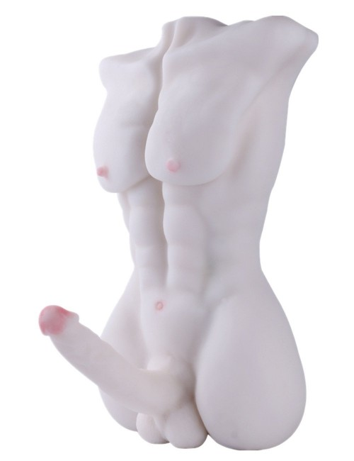 Male Body Torso Love Doll Realistic Sex Doll with Big Dildo for Women