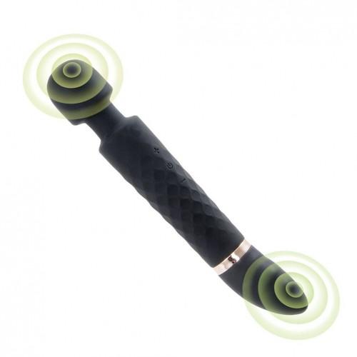 Dual Motors Rechargeable Wireless Wand Massager Vibrator for Women