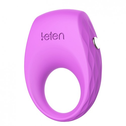 Leten Delay Ejaculation Cock Ring Vibrator Silicone Penis sleeve for men