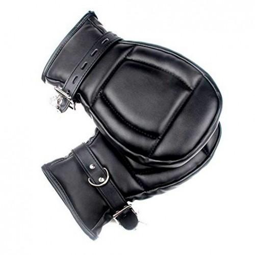 1 pairs Lockable and adjustable Padded Bondage Mitts